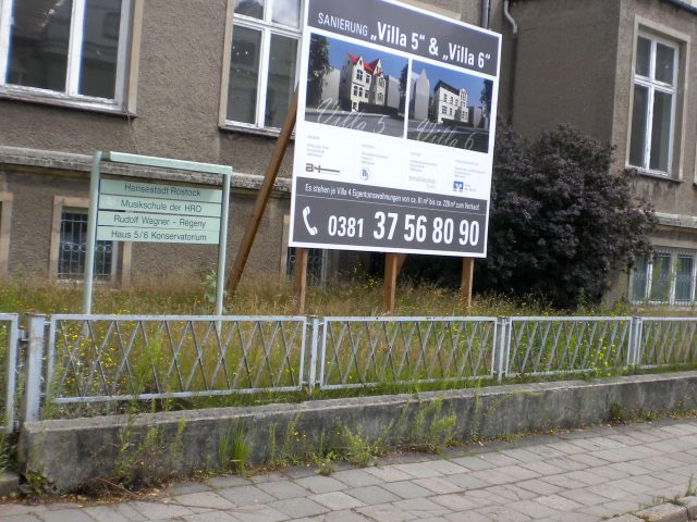 Jetzt sind das Wohnhäuser, das Musikatelier war Ecke Blücherstraße gelegen nur ein paar Schritte davon entfernt